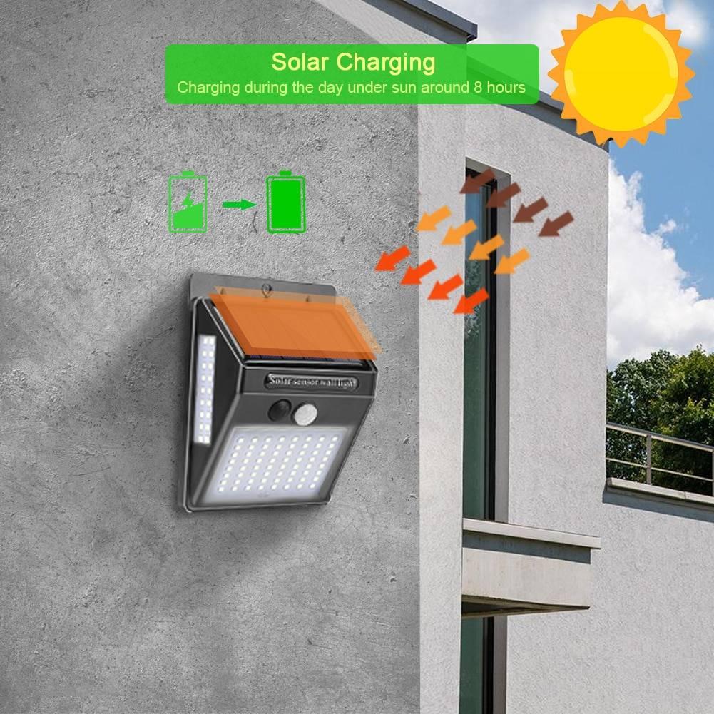 Wall LED Solar Lamp for Garden