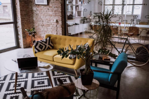 Loft Appartment Turned Into Luxurios Office, Decorated In Vintage Style